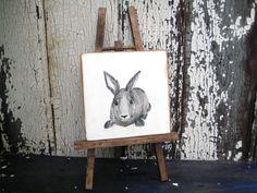 Baby Bunny Art,Wood Rabbit Art,Bunny Nursery Decor,Easter Rabbit,Salvaged Wood Bunny,Reclaimed Wood Art,Painting On Wood,Wood Wall Art by BlackCrowCurios on Etsy