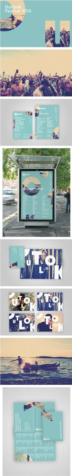 large letter cutouts of big background image, experimental design, interactive, typography, photography, modern, playful, editorial design, poster, magazine layout, brochures, music festival: