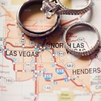 I like this idea. Put the rings on a map where you eloped and that is how you suprise people.