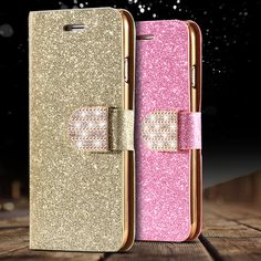 i6/6S/Plus Stand Wallet Cover Fashion Bling Glitter Diamond PU Leather Phone Case For iPhone 6 4.7/6S For iPhone 6 Plus/ 6S Plus $8.97   #glam #vintage #pretty #shopping #iwant #fashionista #model #love #fashion #ootd #cute #instafashion #beautiful #styles #swag