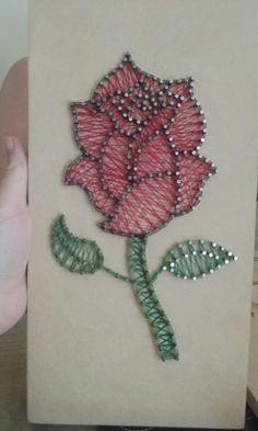 My rose string art