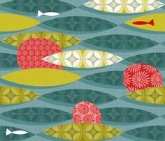 Red Coral Reef fabric by spellstone on Spoonflower - custom fabric