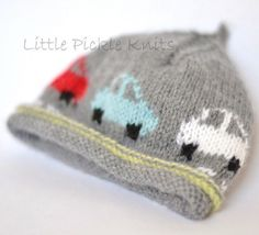 Baby Beanie 'Little Cars' Knitting pattern by Little Pickle Knits | Knitting Patterns | LoveKnitting