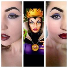 I've seen so many Disney looks lately--Evil Queen from a few months back! Evil Queen Halloween Costume, Halloween Makeup, Halloween Costumes For Kids, Evil Queen Makeup, Disney Villains Makeup, Snow White Makeup, Disney Evil Queen, Snow White Evil Queen, Villain Costumes