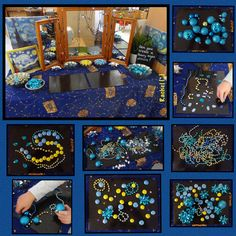 An with inspired by The Starry Night by Van Gogh… 🌠🎇✨💫 💙 Van Gogh, Starry Night Art, Starry Nights, Creative Area, Mandala, Expressive Art, Art Station, Space Theme, Preschool Art
