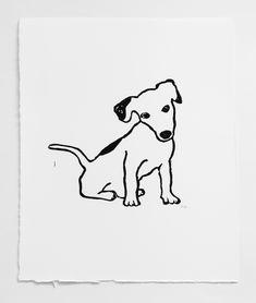 Hugo Guinness print in vintage frame available @ Wilson Stephens & Jones Dog Line Drawing, Hugo Guinness, Dog Walking Business, Jack Russell Dogs, Black And White Dog, Linocut Prints, Vintage Frames, Heart Art, Dog Art