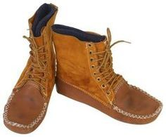 Moccasin boots are a sturdy, comfortable alternative to shoes for everyday wear.