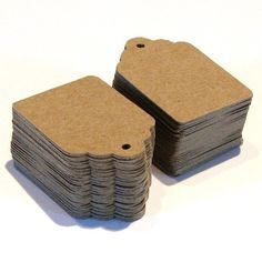 100 Brown KRAFT Cardstock Price Tags with Chocolate by scrapbits