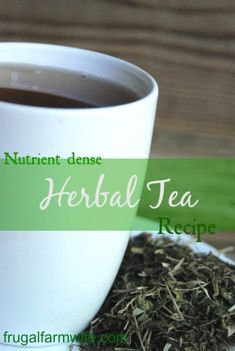 Nutrient and mineral rich herbal tea. This stuff is delicious as a cold summer or drink, or great hot in the morning!