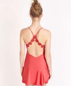 Camicia da notte con bretelle rossa - OYSHO
