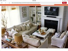 Love This Living Room Layout.