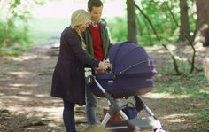 Stokke strollers lift baby closer to the parent, encouraging eye contact & connection whilst on the go