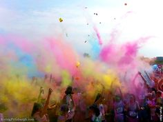 Color Me Rad 5K Pittsburgh: 30  intensely colorful moments that will make you smile!!! We had lots of fun!!!