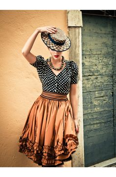 Lena Hoschek - Fashion. Love the mix of patterns and textures. GREAT skirt.