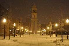 Downtown Dubuque, Iowa 1/2013  Home is where the heart is ♥