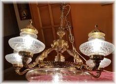 lampara de bronce antigua