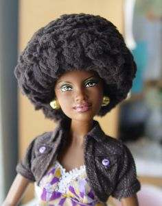 Natural Hair Barbie Afro