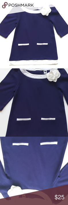 Janie and Jack Girls Posh Posy Indigo Tunic Dress Janie and Jack Girls Posh Posy Indigo Tunic Dress Knit Sheath  Size  6  Condition: EUC  My items come from a smoke-free household, we do have a kitty, so an occasional hair may occur! Janie and Jack Shirts & Tops