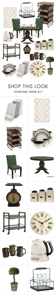 """Industrial Rustic Kitchen"" by kay-hair on Polyvore featuring interior, interiors, interior design, home, home decor, interior decorating, Martha Stewart, South Cone, IMAX Corporation and Inspire Q"