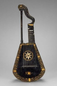 Harp-lute  about 1815  Invented by Edward Light, English, 1747–1832  Probably manufactured by A. Barry, English, active early 19th century