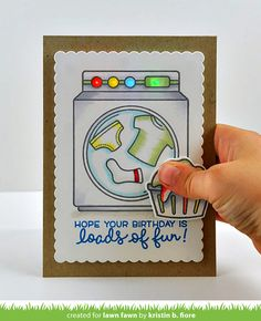 light up washing machine card -- pressure sensor More Fun with Chibitronics DIY LED paper circuit Card Making Inspiration, Making Ideas, Ms Project, Lawn Fawn Blog, Lawn Fawn Stamps, Lumiere Led, Interactive Cards, Paper Smooches, Marianne Design