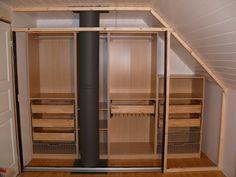 sloped ceiling closet Ikea hack