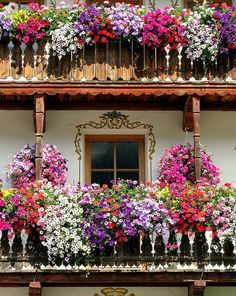 Italian balconies, moso in pasiria, south Tyrol pr...