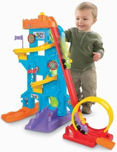 Amazon.com: Fisher-Price Wheelies Loops 'n Swoops Amusement Park: Toys & Games