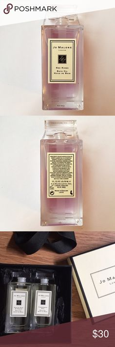 NWT Jo Malone Red Roses bath oil Brand new never used. Can be put in jo Malone gift wrapped box like 3rd photo if requested! Great Valentine's Day gift. Sephora Makeup