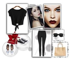 """""""NO.1"""" by elmat ❤ liked on Polyvore featuring Komar, Topshop, Kate Spade, Converse and Karl Lagerfeld"""