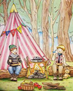 イメージは夏のキャンプです。鮮やかな草の緑と、空の青が塗りたかったのです。服装が冬服なのはスルーでお願いします(´-`) 今回、後ろの木は水彩色鉛筆で塗ってみました。手前の丸太や枝との区別を付けたかったので、あえて薄めにしました。あと遠近効果もあるかなーと。これからも時々は使ってみようと思います☺︎ #ロマンティックカントリー #コロリアージュ #塗り絵 #おとなのぬりえ #おとなの塗り絵 #大人の塗り絵 #色鉛筆 #ホルベイン #ホルベイン色鉛筆 #coloriage #adultcoloring #adultcolouringbook #holbein #romanticcountry #eriy #coloringbooks #coloringbook #油性色鉛筆 #romanticcountrycoloringbook #ステッドラー #staedtler #staedtlerpens #水彩色鉛筆