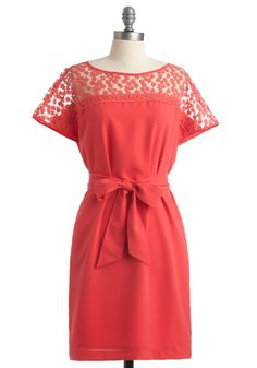 modcloth gladsome greetings dress I love coral in the summer! Cute Dresses, Dresses For Work, Summer Dresses, Pretty Outfits, Cute Outfits, Pretty Clothes, Fru Fru, Coral Dress, Coral Lace