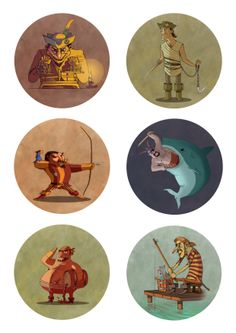 ©Geoffroy Lagarde -Horoscope, character design (2013)