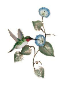 Hummingbird on Morning Glory Vine-Sm