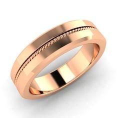 Men's Ring in 10k Rose Gold