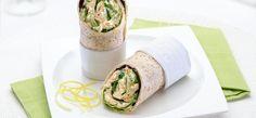 Hummus-wrapit salaatilla