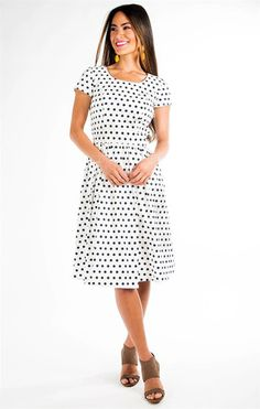 Smoking Hot Deal on this vintage inspired modest dress - $44 - Hot to Trot Dress – ModestPop.com