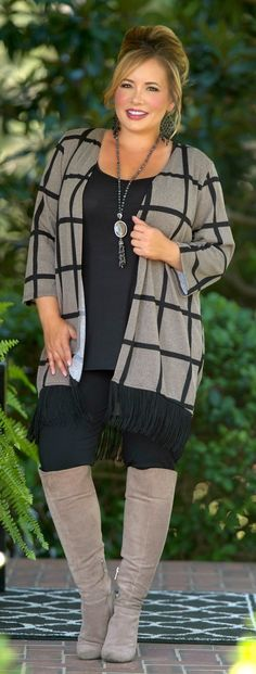 Hanging By A Thread Cardigan - Taupe - Perfectly Priscilla Boutique