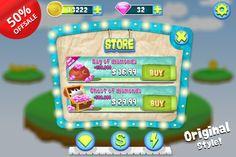 Complete Cartoon Bubble Gum GUI Pack by Creativer Studio on Creative Market