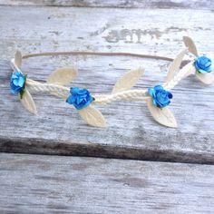 Blue Floral Maternity Hippie Halo Greek by LittleSparrowBows, $16.00 #littlesparrowbows #itsaboy