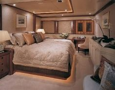 This is guest room of my yacht Lol. Who wants to be my guest?