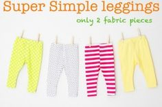 Mrs Crafty Doyle - Super simple leggings for babies and toddlers