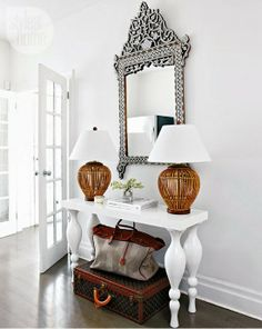 vintageluxe: style at home Design Entrée, House Design, Design Ideas, Style At Home, Exotic Homes, Estilo Tropical, Sweet Home, Entry Way Design, Dream Decor