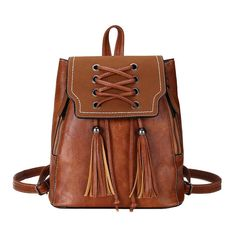 Women Solid Color Retro Lace Backpack is designer and cheap on Newchic. Lace Backpack, Vintage Leather Backpack, Satchel Backpack, Travel Backpack, Ladies School Bag, School Bags, Vintage Backpacks, Girl Backpacks, School Backpacks