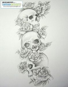 skull tattoos for women | new-skull-sleeve-tattoos-for-women-skull-tattoo-sleeves-skull-roses ...: