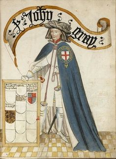 Lord John Grey Coat of Arms, 1st husband of Elisabeth Woodville Grey. Elizabeth later married Edward IV and gave birth to Elizabeth of York, who--by her marriage to Henry VII, established the Tudor dynasty