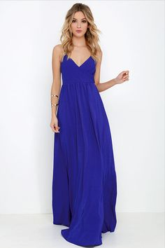 On the Silver Screen Royal Blue Maxi Dress at Lulus.com! | fashion ...