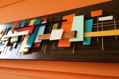 Mid Century Modern Art Abstract Wall Sculpture Painting Retro Eames Era Mad Men new release - 2016 by Jetsetretrodesign on Etsy https://www.etsy.com/no-en/listing/265300010/mid-century-modern-art-abstract-wall