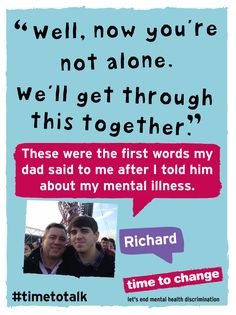 Richard blogs about opening up to his Dad about #OCD. #timetotalk