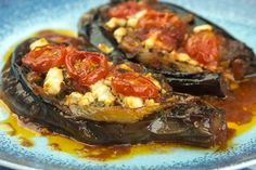 Eggplants Imam Baldi Brunch Recipes, Wine Recipes, Cooking Recipes, Veggie Dishes, Tasty Dishes, Bon Appetit, My Favorite Food, Favorite Recipes, Eat Greek
